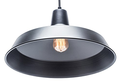 Globe Electric 65155 Barnyard 1 Light Pendant Matte Black 0 0