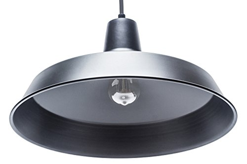 Globe Electric 65155 Barnyard 1 Light Pendant Matte Black 0 1