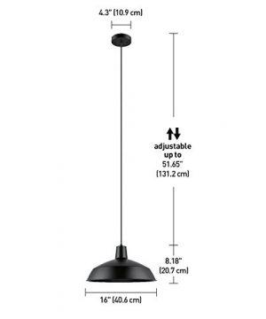 Globe Electric 65155 Barnyard 1 Light Pendant Matte Black 0 4 300x360