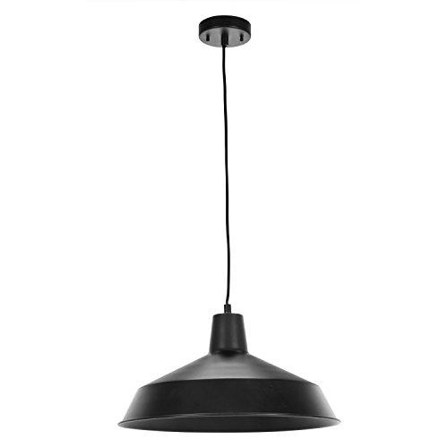 Globe Electric 65155 Barnyard 1 Light Pendant Matte Black 0