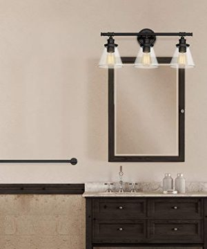 Globe Electric Parker 5 Piece All In One Bath Set Oil Rubbed Bronze Finish 3 Light Vanity Towel Bar Towel Ring Robe Hook Toilet Paper Holder 50192 0 4 300x360