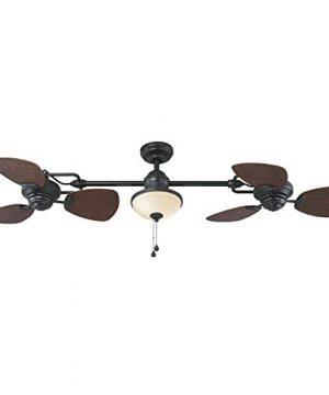 Harbor Breeze Twin Breeze Ii 74 In Oil Rubbed Bronze Outdoor Downrod Ceiling Fan 0 300x360