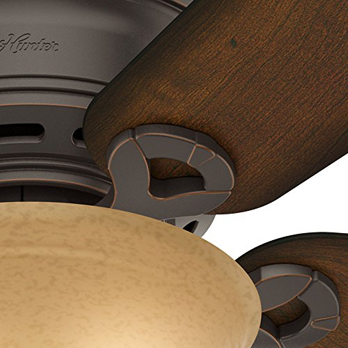 Hunter 51023 Conroy 42 Inch Onyx Bengal Ceiling Fan With Five Burnished Mahogany Blades And A Light Kit 0 0