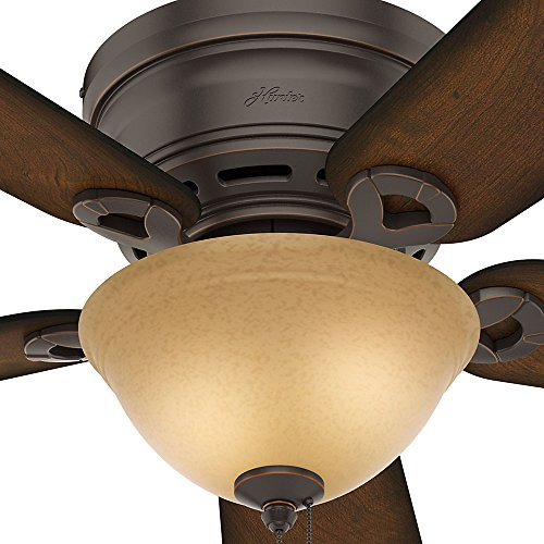 Hunter 51023 Conroy 42 Inch Onyx Bengal Ceiling Fan With Five Burnished Mahogany Blades And A Light Kit 0 1