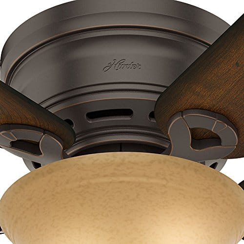 Hunter 51023 Conroy 42 Inch Onyx Bengal Ceiling Fan With Five Burnished Mahogany Blades And A Light Kit 0 2