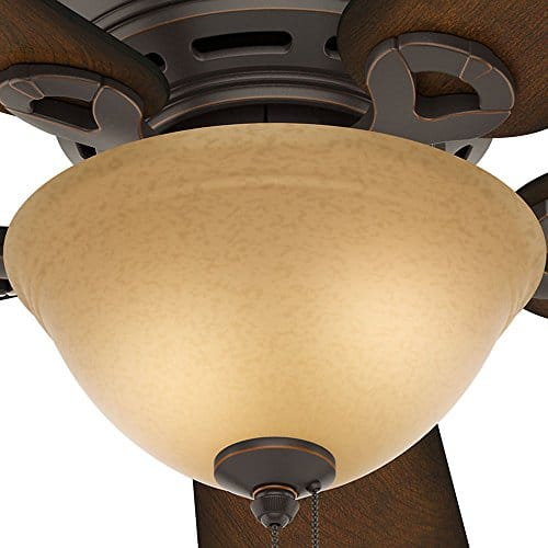 Hunter 51023 Conroy 42 Inch Onyx Bengal Ceiling Fan With Five Burnished Mahogany Blades And A Light Kit 0 3