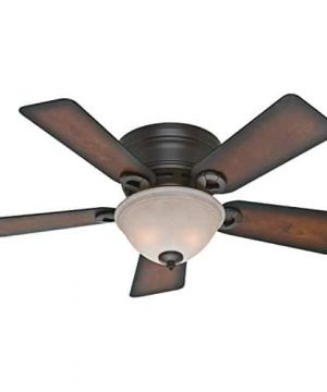 Hunter 51023 Conroy 42 Inch Onyx Bengal Ceiling Fan With Five Burnished Mahogany Blades And A Light Kit 0 300x360