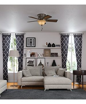 Hunter 51023 Conroy 42 Inch Onyx Bengal Ceiling Fan With Five Burnished Mahogany Blades And A Light Kit 0 4 300x360