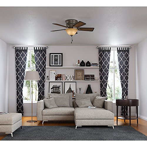 Hunter 51023 Conroy 42 Inch Onyx Bengal Ceiling Fan With Five Burnished Mahogany Blades And A Light Kit 0 4