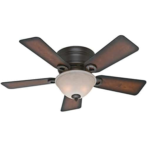 Hunter 51023 Conroy 42 Inch Onyx Bengal Ceiling Fan With Five Burnished Mahogany Blades And A Light Kit 0