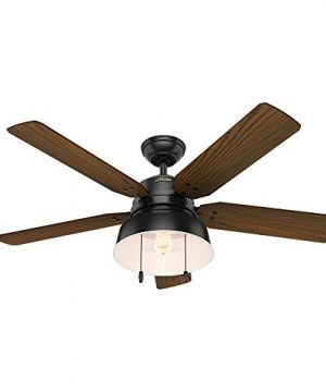 Hunter 59307 Mill Valley 52 Ceiling Fan With Light Large Matte Black 0 0 300x360