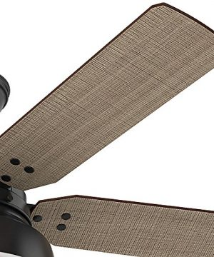 Hunter 59307 Mill Valley 52 Ceiling Fan With Light Large Matte Black 0 1 300x360