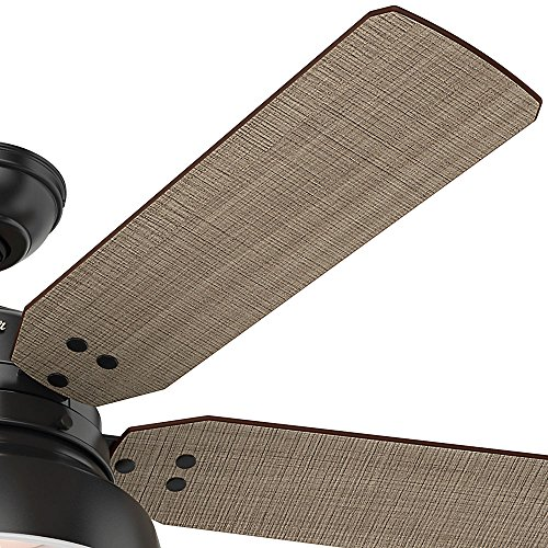 Hunter 59307 Mill Valley 52 Ceiling Fan With Light Large Matte Black 0 1