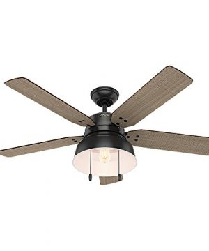 Hunter 59307 Mill Valley 52 Ceiling Fan With Light Large Matte Black 0 300x360
