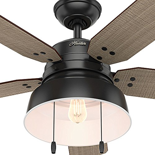 Hunter 59307 Mill Valley 52 Ceiling Fan With Light Large Matte Black 0 4