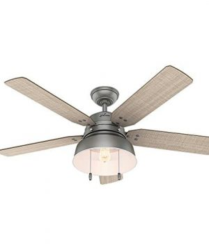 Hunter 59308 Mill Valley 52 Ceiling Fan With Light Large Matte Silver 0 0 300x360