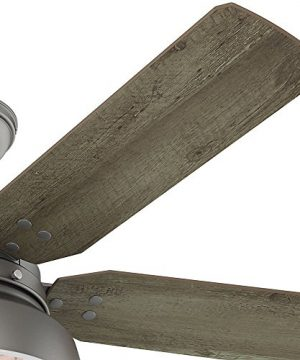Hunter 59308 Mill Valley 52 Ceiling Fan With Light Large Matte Silver 0 1 300x360