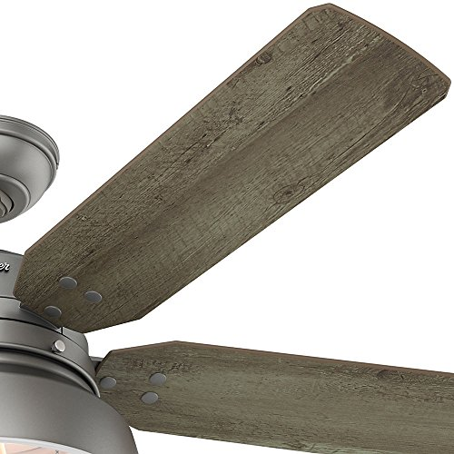 Hunter 59308 Mill Valley 52 Ceiling Fan With Light Large Matte Silver 0 1