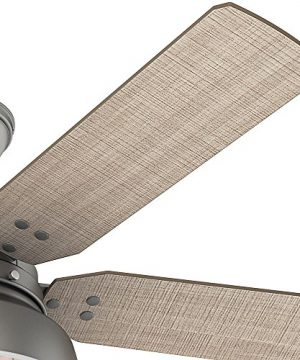 Hunter 59308 Mill Valley 52 Ceiling Fan With Light Large Matte Silver 0 2 300x360