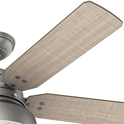 Hunter 59308 Mill Valley 52 Ceiling Fan With Light Large Matte Silver 0 2