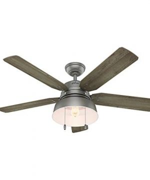 Hunter 59308 Mill Valley 52 Ceiling Fan With Light Large Matte Silver 0 300x360