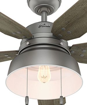 Hunter 59308 Mill Valley 52 Ceiling Fan With Light Large Matte Silver 0 4 300x360