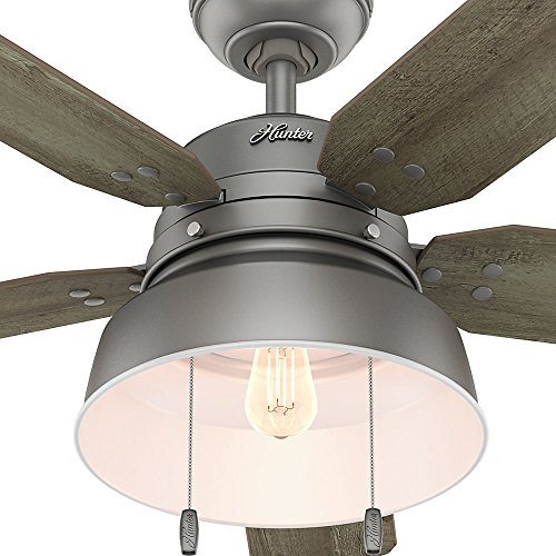 Hunter 59308 Mill Valley 52 Ceiling Fan With Light Large Matte Silver 0 4