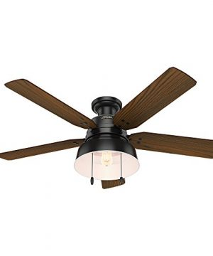 Hunter 59310 Mill Valley 52 Ceiling Fan With Light Large Matte Black 0 0 300x360