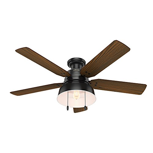 Hunter 59310 Mill Valley 52 Ceiling Fan With Light Large Matte Black 0 0