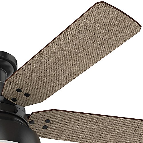 Hunter 59310 Mill Valley 52 Ceiling Fan With Light Large Matte Black 0 1