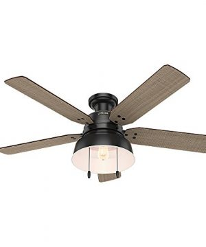 Hunter 59310 Mill Valley 52 Ceiling Fan With Light Large Matte Black 0 300x360