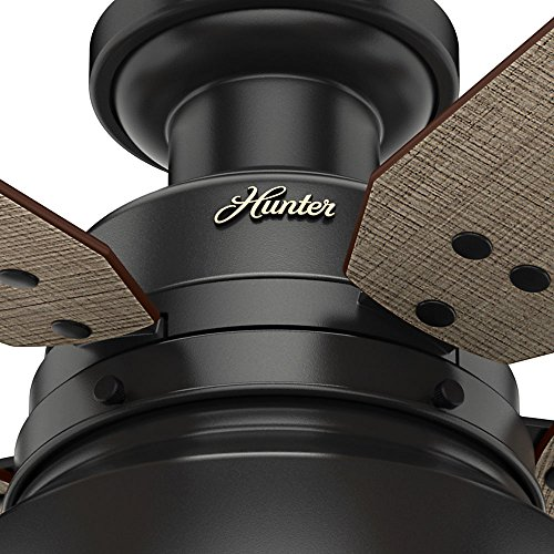 Hunter 59310 Mill Valley 52 Ceiling Fan With Light Large Matte Black 0 5