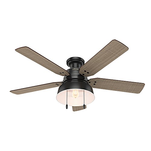 Hunter 59310 Mill Valley 52 Ceiling Fan With Light Large Matte Black 0