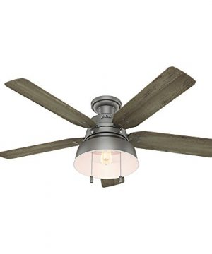 Hunter 59311 Mill Valley 52 Ceiling Fan With Light Large Matte Silver 0 300x360