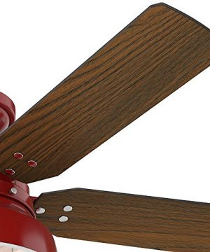 Hunter 59312 Mill Valley 52 OTH867 Ceiling Fan With Light Large Barn Red 0 1 300x360