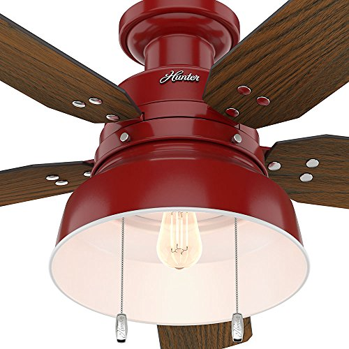 Hunter 59312 Mill Valley 52 OTH867 Ceiling Fan With Light Large Barn Red 0 4