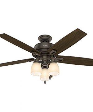 Hunter Fan Company 53336 Hunter 52 Donegan Onyx Bengal Ceiling Fan With Light White 0 1 300x360