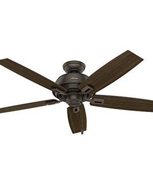 Hunter Fan Company 53336 Hunter 52 Donegan Onyx Bengal Ceiling Fan With Light White 0 2 300x360