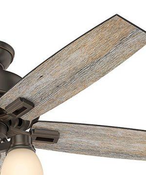 Hunter Fan Company 53336 Hunter 52 Donegan Onyx Bengal Ceiling Fan With Light White 0 3 300x360