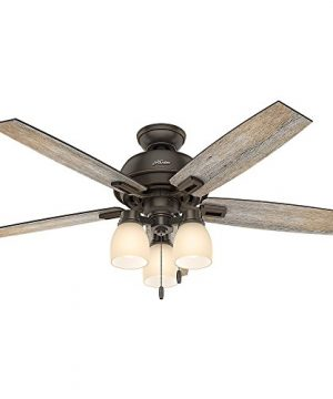 Hunter Fan Company 53336 Hunter 52 Donegan Onyx Bengal Ceiling Fan With Light White 0 300x360