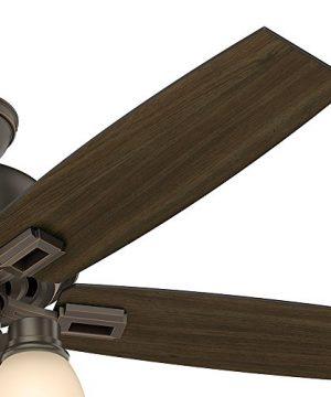 Hunter Fan Company 53336 Hunter 52 Donegan Onyx Bengal Ceiling Fan With Light White 0 4 300x360