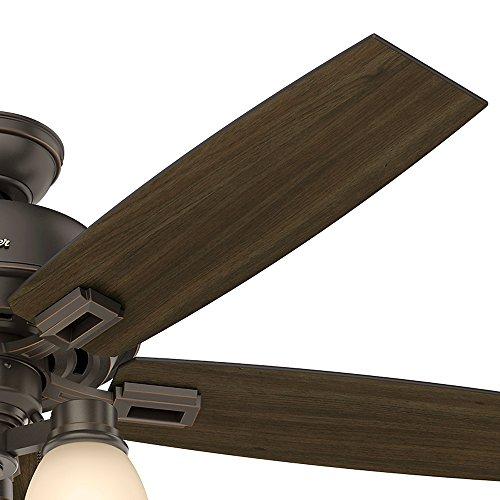 Hunter Fan Company 53336 Hunter 52 Donegan Onyx Bengal Ceiling Fan With Light White 0 4