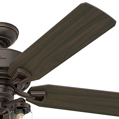 Hunter Fan Company 54201 Hunter 52 Devon Park Onyx Bengal LED Light And Handheld Remote Ceiling Fan 0 2