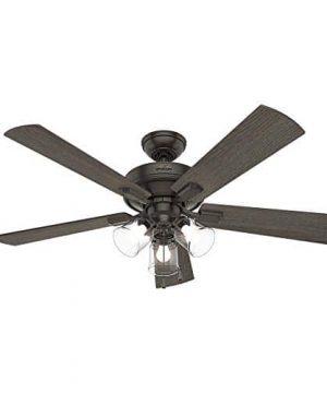 Hunter Fan Company 54205 Hunter 52 Crestfield Noble Bronze LED Light Ceiling Fan 0 1 300x360