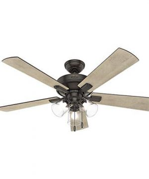 Hunter Fan Company 54205 Hunter 52 Crestfield Noble Bronze LED Light Ceiling Fan 0 300x360