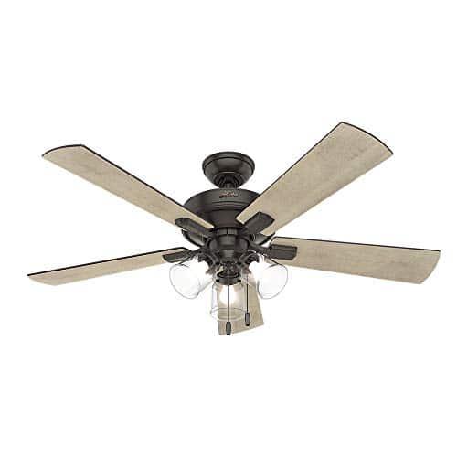 Hunter Fan Company 54205 Hunter 52 Crestfield Noble Bronze LED Light Ceiling Fan 0