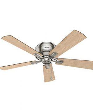 Hunter Fan Company 54209 Hunter 52 Crestfield Brushed Nickel LED Light Ceiling Fan 0 0 300x360