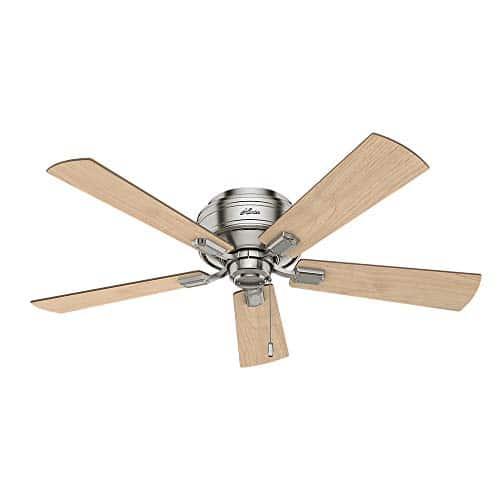 Hunter Fan Company 54209 Hunter 52 Crestfield Brushed Nickel LED Light Ceiling Fan 0 0