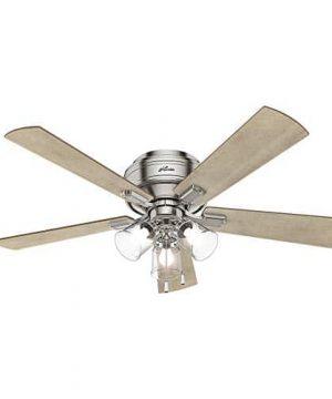 Hunter Fan Company 54209 Hunter 52 Crestfield Brushed Nickel LED Light Ceiling Fan 0 1 300x360
