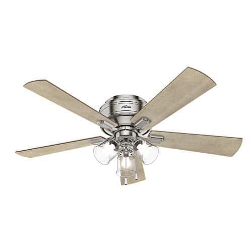 Hunter Fan Company 54209 Hunter 52 Crestfield Brushed Nickel LED Light Ceiling Fan 0 1